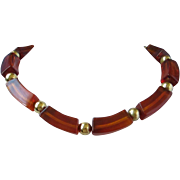 SALE Napier Root Beer Lucite Choker Necklace