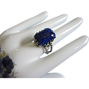 SALE Western Germany Faux Lapis Lazuli Ring