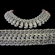 SALE Sarah Coventry Silver Tone Swirls Necklace, Bracelet Set