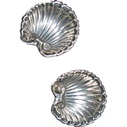 Sterling Silver Shell Salts Pair
