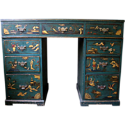 19th Century Chinese Chippendale Painted Desk