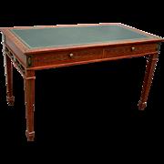 19th c. English Adam Style Satinwood Desk