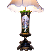 19th Century Austrian Art Glass Lamp