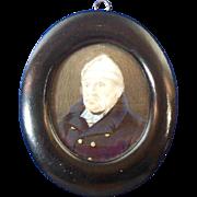 SALE Hand Painted Miniature Portrait of Sailor