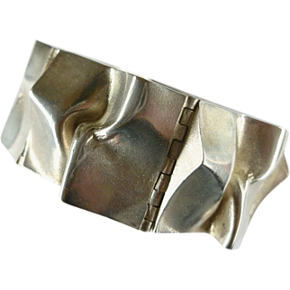 SALE Vintage MJH Sirokoru Finland Abstract Modernist 925 Bracelet