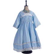 """SOLD Pretty  Cotton Dimity Dress for Antique French or German 28""""-30"""" Doll"""