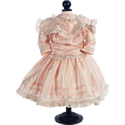 """SOLD Silk Reproduction Party Dress for 24""""  Antique French Jumeau or German Bisque Head D"""
