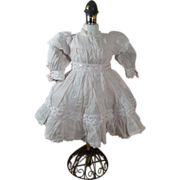 SOLD Feminine Pale Pink Cotton Reproduction Dress for Antique French or German Bisque Head 17-