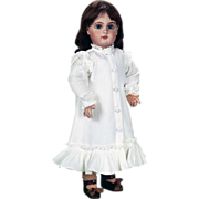 SOLD PRETTY  Reproduction White Pique Princess Dress for French or German Antique Doll 20""