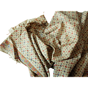 Antique roller print border print cotton dolls 1 1/3 yards