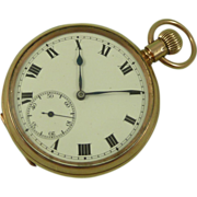 SOLD Solid 9K Gold Pocket Watch Syren Scottish 1919 Vintage
