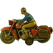 TIP&CO Motorcycle Tinplate Toy TCO 598 TIPCO Germany