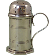 Victorian Miniature Sterling Silver Flour or Spice Dredger1896