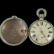 1814 Silver Pair-case Verge Pocket Watch Stephen Farr Bristol Fusee Antique