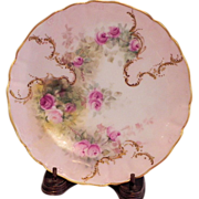 SOLD Limoges Roses Plate