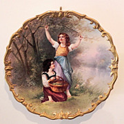 """SOLD Limoges Dubois 12 1/2"""" Hanging Wall Plaque"""