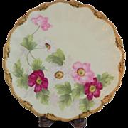 """SOLD T&V Limoges Floral Charger 12 1/4"""""""