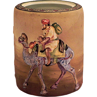 Nippon Blown Out Man on Camel Humidor - No Lid