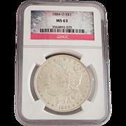 SOLD 1884-O S$1 MS 63 Morgan Dollar