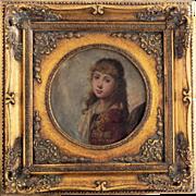 SALE 18th Century Rare Gabriel Cornelius Ritter Von Max Oil on Board Signed Painting