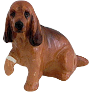 Royal Doulton Cocker Spaniel Dog With Hurt Paw Figurine