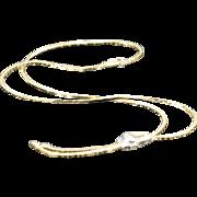 SALE 14K 0.10 CTW Diamond Fancy Link Necklace 16+2 Yellow Gold