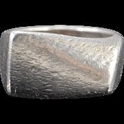 SALE Sterling Silver Georg Jensen Modernist Geometric #141 Ring - Size 7 /