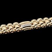 """SALE 10K 0.56 CTW Diamond Fancy Link Men's Bracelet 8.25"""" Yellow Gold"""