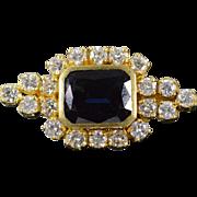 SALE 18K 5.74 CTW Sapphire 2.00 G/VS-SI CTW Diamond French Clip ...