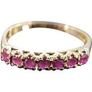 SALE 10K 0.75 CTW Ruby Ring - Size 7 / Yellow Gold