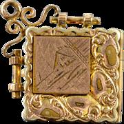 SALE Gold Filled Victorian Engraved Photo Locket Pendant
