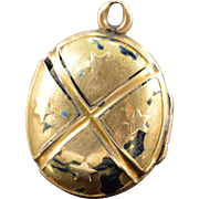 SALE Gold Filled Mason Masonic Photo Locket Pendant