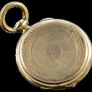 SALE Gold Filled Tin Type Photo Locket Pendant