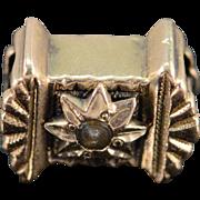 SALE 10K Victorian Seed Pearl Slide Bracelet Charm/Pendant Yellow Gold