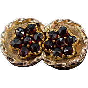 SALE 14K 0.75 CTW Red Garnet Slide Bracelet Charm/Pendant Yellow Gold