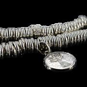 SALE 925Silver Links of London Stretch Ringed Bracelet