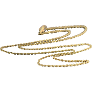 """SALE 14K Rope Link Necklace 20"""" Yellow Gold"""