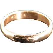 SALE 10K Simple Rounded Baby Band Ring - Size 1 / Yellow Gold