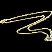 "SALE 14K 0.80 CT Bezel Set Garnet Box Link Necklace 18"" Yellow Gold"