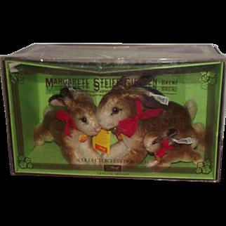Margarete Steiff Giengen - Brenz Wonderful Three Vintage Steiff Rabbits
