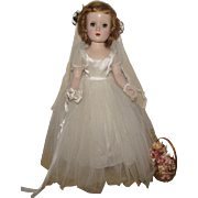 SOLD Gorgeous Vintage Rare Madame Alexander Margaret Bride Walker Doll In Original tagged ...