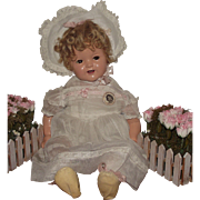 """Vintage Ideal Flirty Eyes Composition Rare """"SHIRLEY TEMPLE BABY"""" In Original Outfit"""
