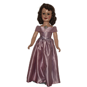 "21"" Vintage High Color Composition ""Deanna Durbin Doll"" With Rare Original Gown"