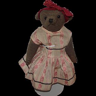 """Adorable Vintage 11"""" Mohair Bear Circa 1900"""