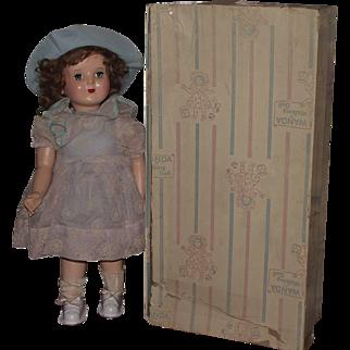 "Vintage Wanda The Walking Wonder Doll In Original Box, Clothing & Original Instructions 18"" Circa 1954"