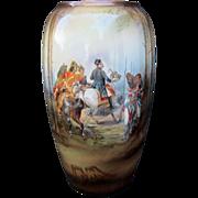 "R.S. Suhl 11 ½"" Napoleon Battle Scene Vase"