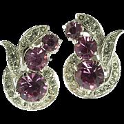 Eisenberg Ice Pink Rhinestone Earrings