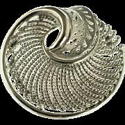 Large Silver Tone Lisner Brooch