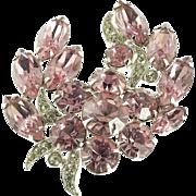 Eisenberg Pink Rhinestone Brooch