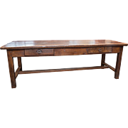 SOLD Antique French Farm Trestle Table Early 18th Century